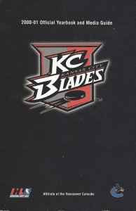 Kansas City Blades Media Guide