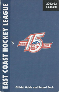 2002-03 East Coast Hockey League Guide & Record Book