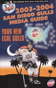 2003-04 San Diego Gulls Media Guide