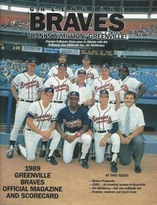 1989 Greenville Braves Program