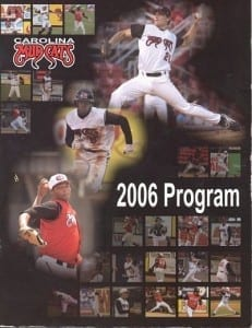2006 Carolina Mudcats Program