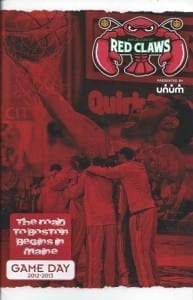 Maine Red Claws Program