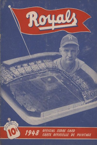 1948 Montreal Royals Program