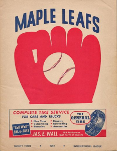 1952 Toronto Maple Leafs Progam