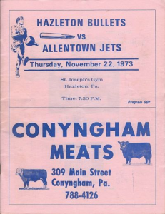 1973-74 Hazleton Bullets Program