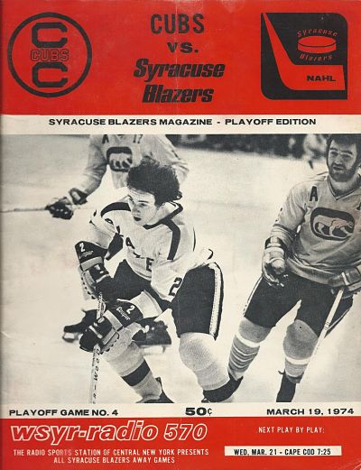 1974 Syracuse Blazers Program