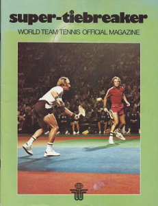 1977 World Team Tennis Program