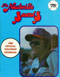 1980 Nashville Sounds Program