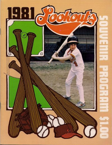 1981 Chattanooga Lookouts Program