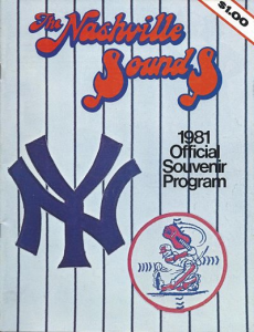 1981 Nashville Sounds Program