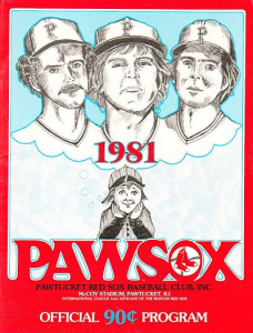 Pawtucket Red Sox Program