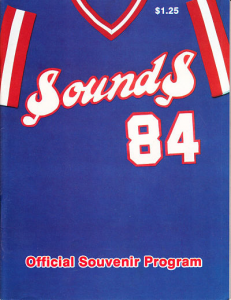 1984 Nashville Sounds Program