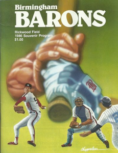 1986 Birmingham Barons Program