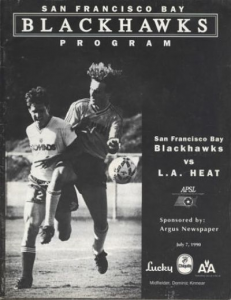1990 San Francisco Bay Blackhawks Program