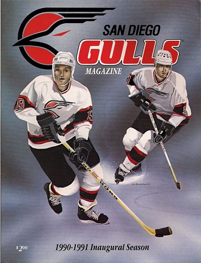 1990-91 San Diego Gulls Program