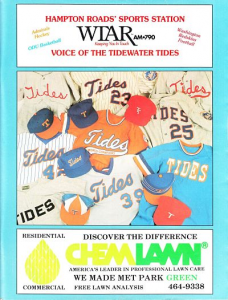 Tidewater Tides Program