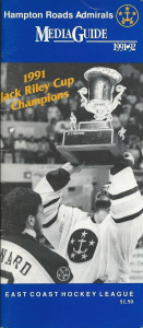 1991-92 Hampton Roads Admirals Media Guide