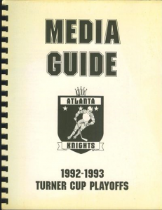 Atlanta Knights Media Guide