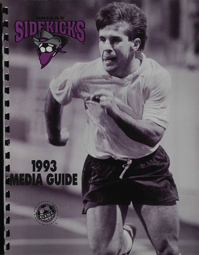 1993 Dallas Sidekicks Media Guide