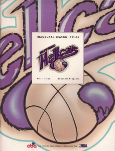 1993-94 Hartford Hellcats Program