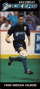 1995 San Diego Sockers Media Guide