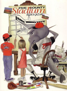 1998 Carolina Mudcats Program