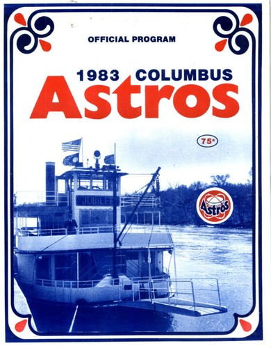 1983 Columbus Astros Program