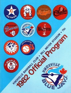 1982 Knoxville Blue Jays Program
