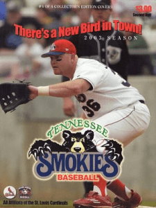 2003 Tennessee Smokies Program