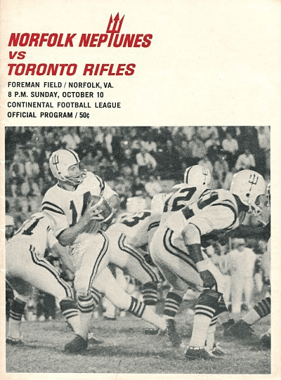 Toronto Rifles @ Norfolk Neptunes. October 10, 1965