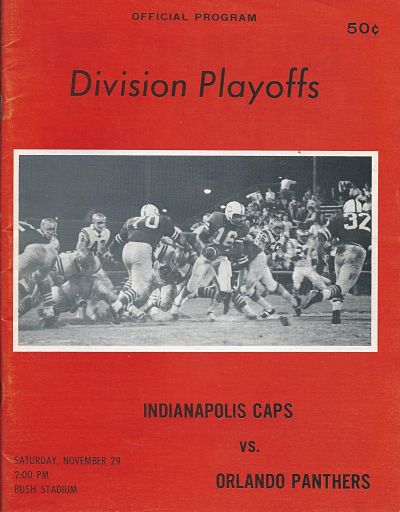 Orlando Panthers at Indianapolis Capitols. November 29, 1969
