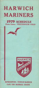1979 Harwich Mariners Media Guide