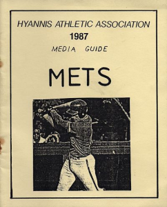1987 Hyannis Mets Media Guide