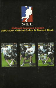 National Lacrosse League Media Guide