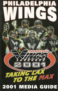 Philadelphia Wings Media Guide