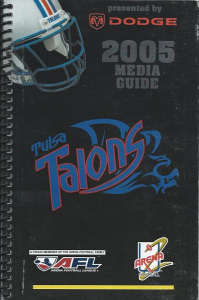 Tulsa Talons Media Guide
