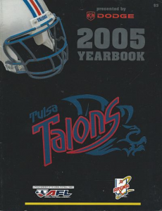 2005 Tulsa Talons Yearbook