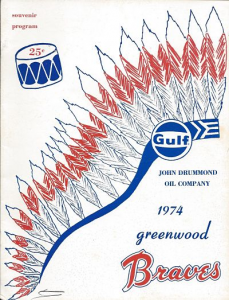 1974 Greenwood (SC) Braves Program