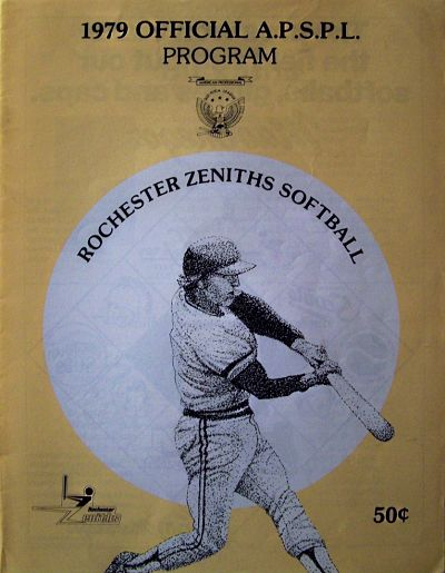 1979 Rochester Zeniths Softball Yearbook