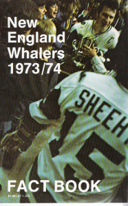 1973-74 New England Whalers Media Guide