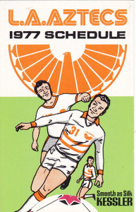 1977 Los Angeles Aztecs Pocket Schedule