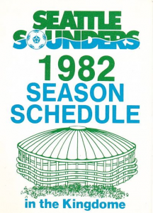 1982 Seattle Sounders Pocket Schedule