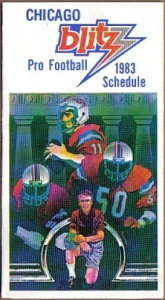 1983 Chicago Blitz Pocket Schedule