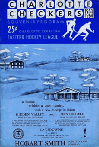 1963-64 Charlotte Checkers Program