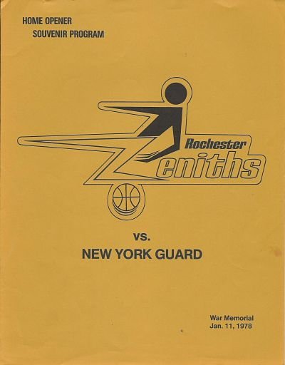 1978 Rochester Zeniths Program