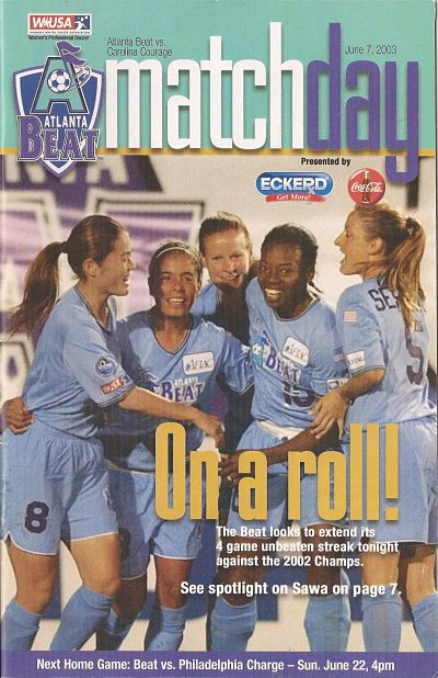 Atlanta Beat vs. Carolina Courage. June 7, 2003