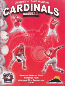 Johnson City Cardinals Program