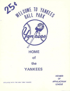 Johnson City Yankees Program