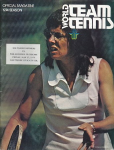Billie Jean King Philadelphia Freedoms