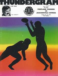 World Football League Program